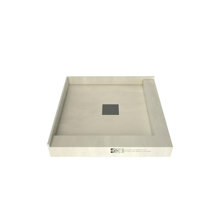 Wonder Drain Made for Tile Molded Polyurethane Shower Base (Common: 42-in W x 42-in L; Actual: 42-in W x 42-in L)