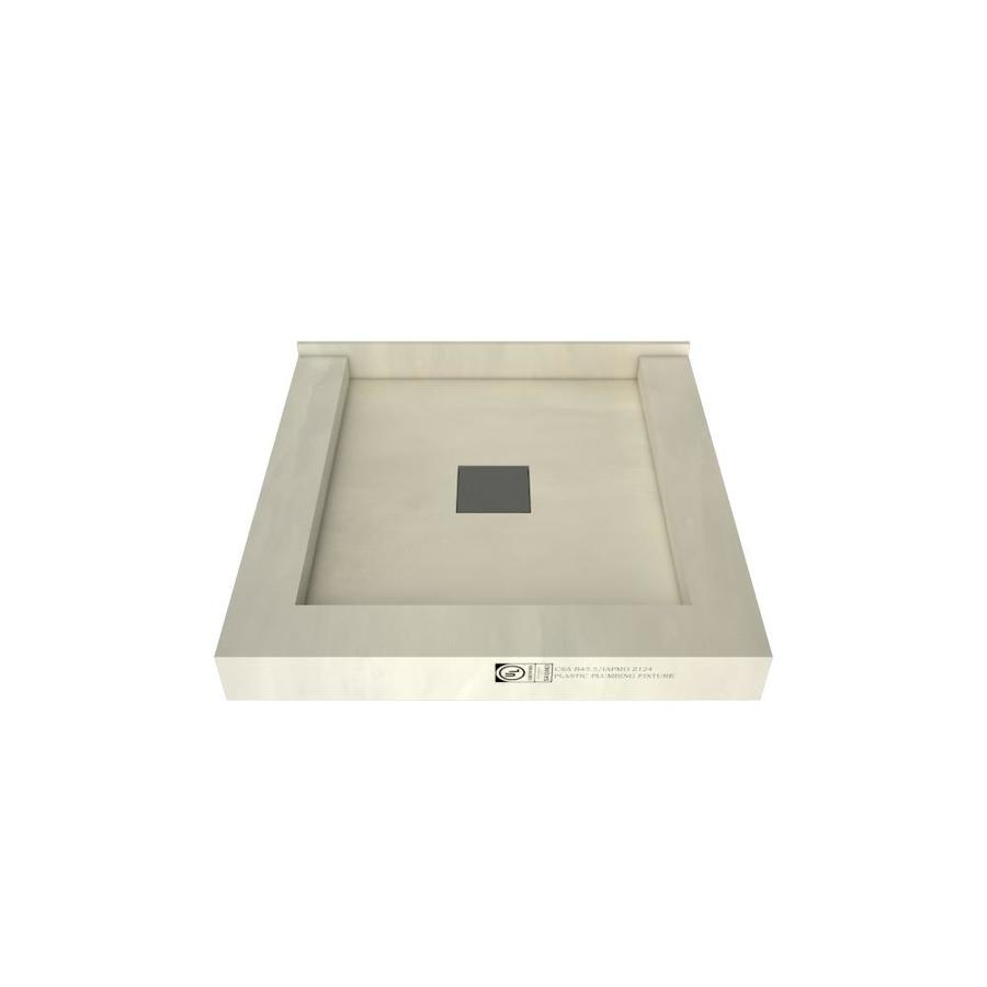 Wonder Drain Made for Tile Molded Polyurethane Shower Base (Common: 42-in W x 42-in L; Actual: 42-in W x 42-in L) with Center Drain