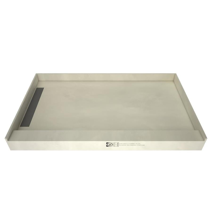 WonderFall Trench Made for Tile Molded Polyurethane Shower Base (Common: 42-in W x 72-in L; Actual: 42-in W x 72-in L) with Left Drain