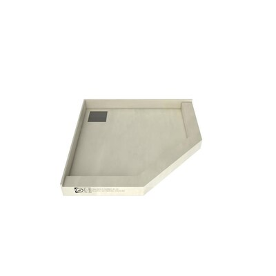 Made For Tile Molded Polyurethane Shower Base 50 In W X L With Back Drain