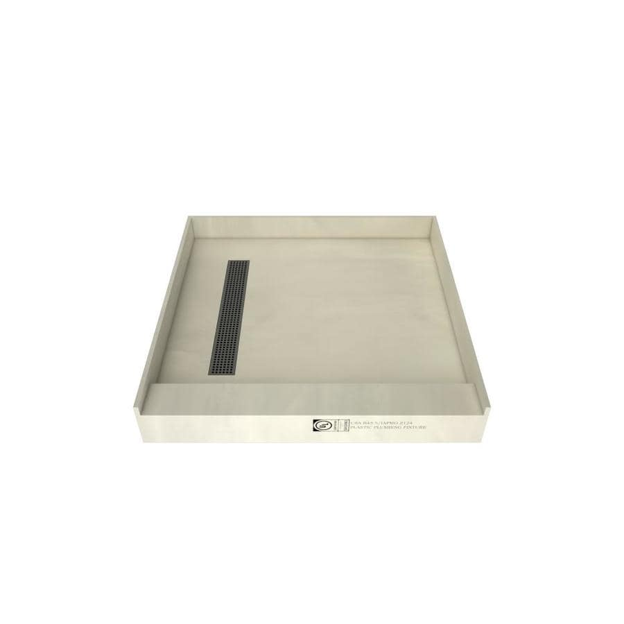 Redi Trench Made for Tile Molded Polyurethane Shower Base (Common: 42-in W x 42-in L; Actual: 42-in W x 42-in L) with Left Drain