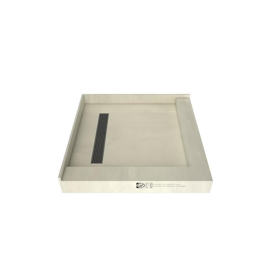 Redi Trench Made for Tile Molded Polyurethane Shower Base (Common: 42-in W x 42-in L; Actual: 42-in W x 42-in L)