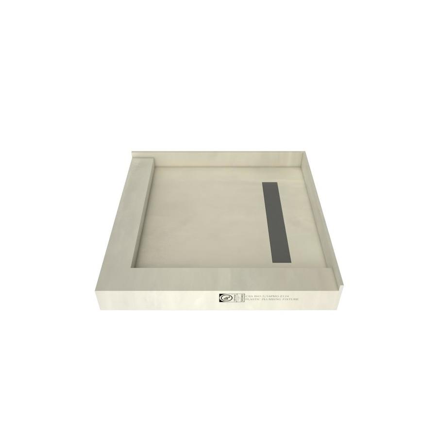 Redi Trench Made for Tile Molded Polyurethane Shower Base (Common: 42-in W x 42-in L; Actual: 42-in W x 42-in L) with Right Drain