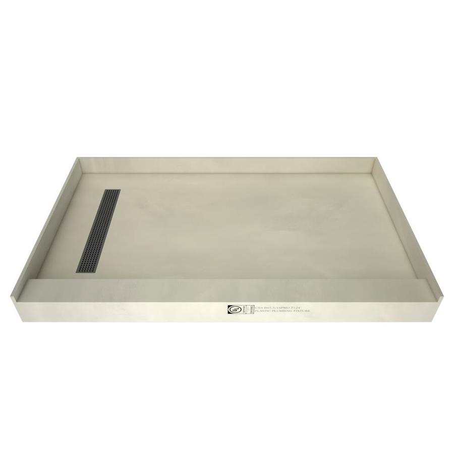 Redi Trench Made for Tile Molded Polyurethane Shower Base (Common: 42-in W x 48-in L; Actual: 42-in W x 48-in L) with Left Drain