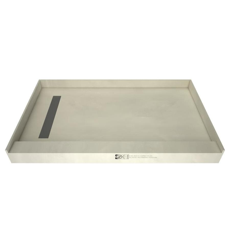 Redi Trench Made for Tile Molded Polyurethane Shower Base (Common: 42-in W x 60-in L; Actual: 42-in W x 60-in L) with Left Drain