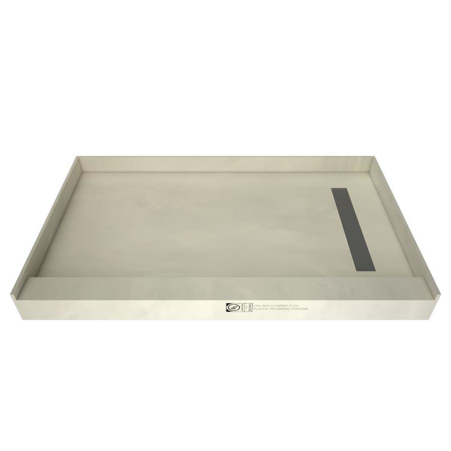 Redi Trench Made for Tile Molded Polyurethane Shower Base (Common: 42-in W x 60-in L; Actual: 42-in W x 60-in L) with Right Drain