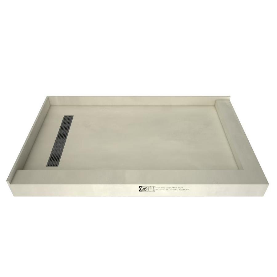 Redi Trench Made for Tile Molded Polyurethane Shower Base (Common: 34-in W x 60-in L; Actual: 34-in W x 60-in L) with Left Drain