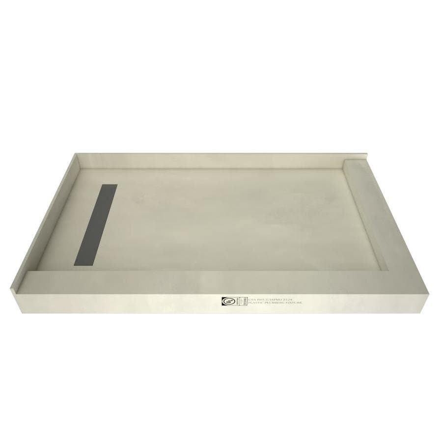 Redi Trench Made for Tile Molded Polyurethane Shower Base (Common: 48-in W x 60-in L; Actual: 48-in W x 60-in L) with Left Drain