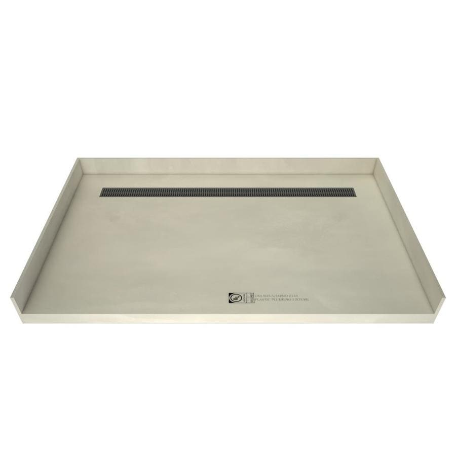 Redi Trench Made for Tile Molded Polyurethane Shower Base (Common: 38-in W x 63-in L; Actual: 38-in W x 63-in L) with Center Drain