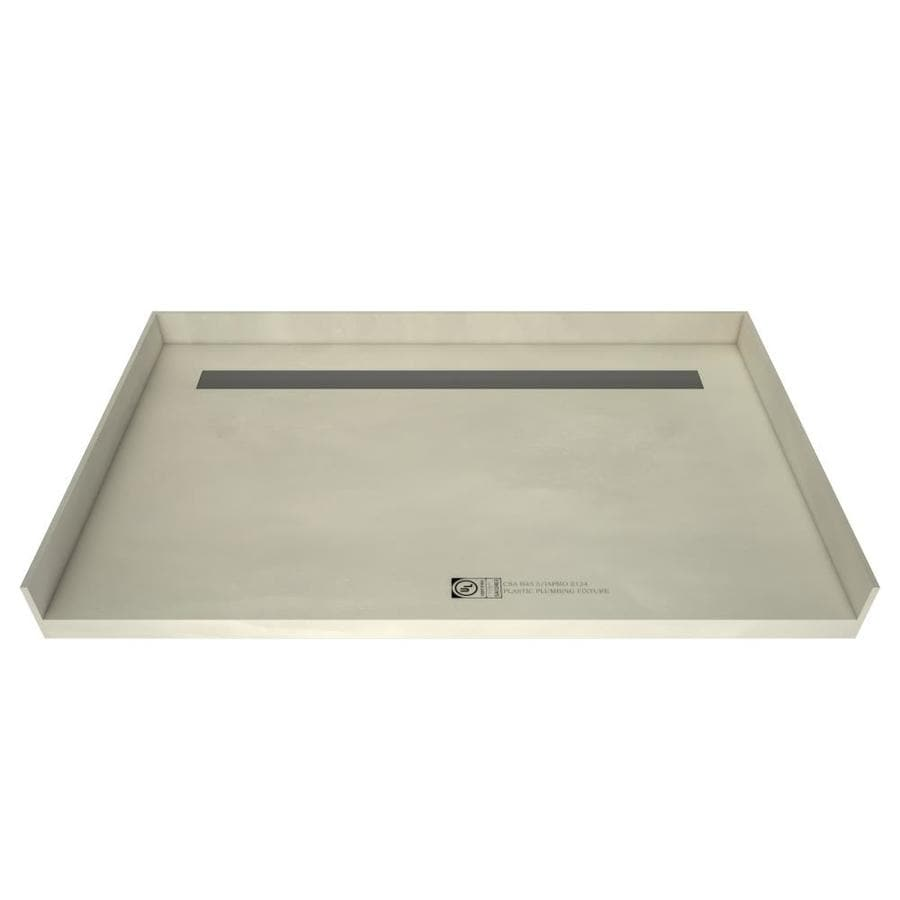 Redi Trench Made for Tile Molded Polyurethane Shower Base (Common: 32-in W x 63-in L; Actual: 32-in W x 63-in L) with Center Drain
