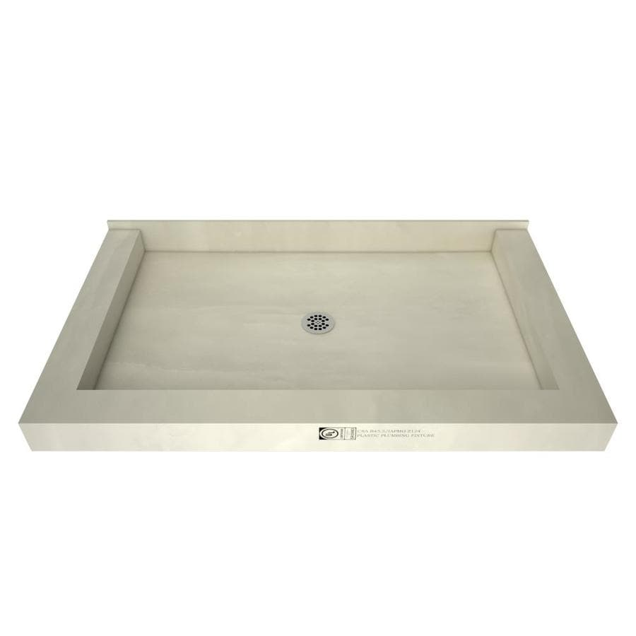 Redi Base Gray Molded Polyurethane Shower Base (Common: 60-in W x 36-in L; Actual: 60-in W x 36-in L)