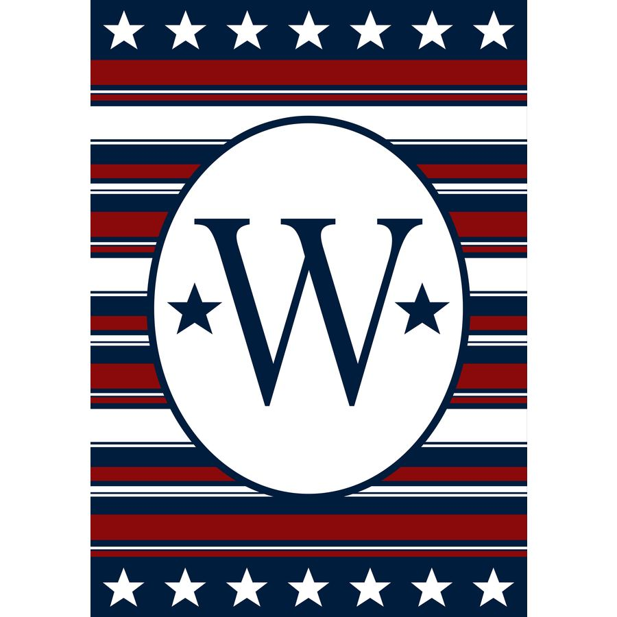1.04-ft W x 1.5-ft H Monogram Garden Flag