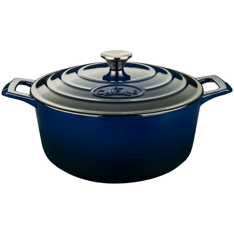 La Cuisine 3.7-Quart Cast Iron Dutch Oven with Lid