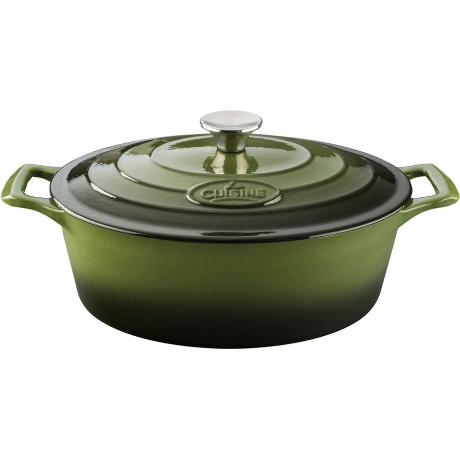 La Cuisine 4.75-Quart Cast Iron Dutch Oven with Lid