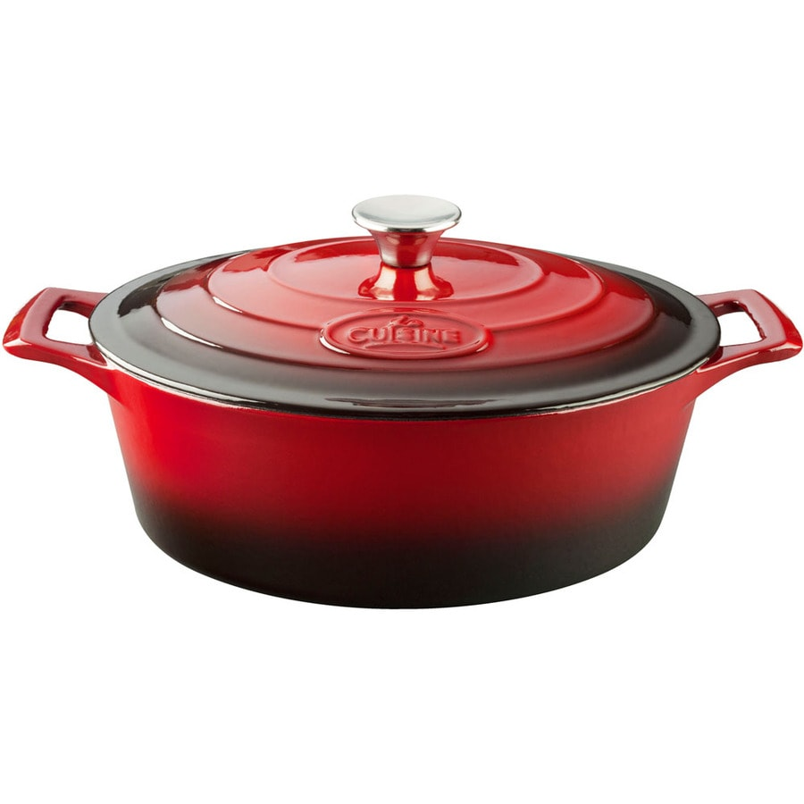 La Cuisine 6.75-Quart Cast Iron Dutch Oven with Lid