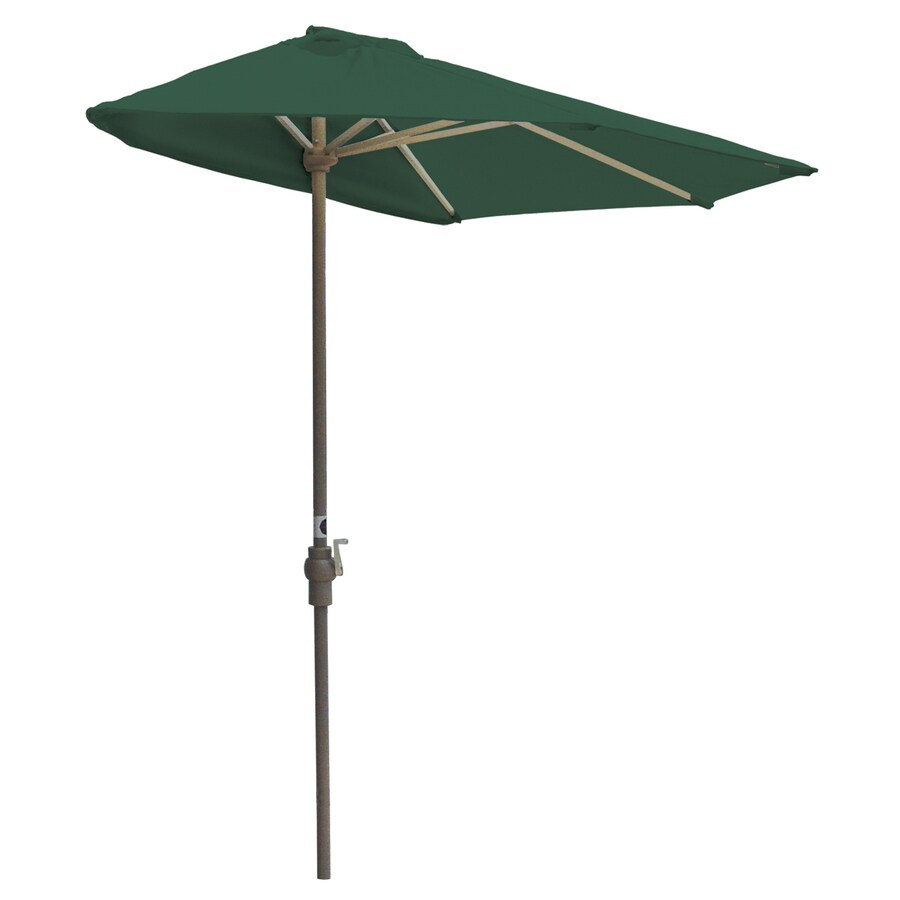 Blue Star Group Off-The-Wall Brella Forest Green Half-Round Patio Umbrella (Common: 7.5-ft W x 3.75-ft L; Actual: 7.5-ft W x 3.75-ft L)