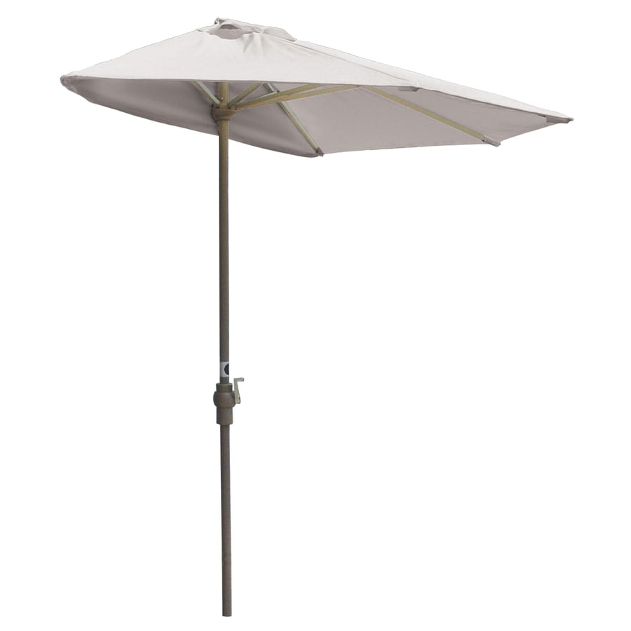 Blue Star Group Off-The-Wall Brella White Half-Round Patio Umbrella (Common: 9-ft W x 4.5-ft L; Actual: 8.83-ft W x 4.5-ft L)