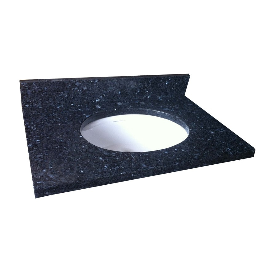 Shop allen + roth Blue Pearl Granite Undermount Single Sink Bathroom ...
