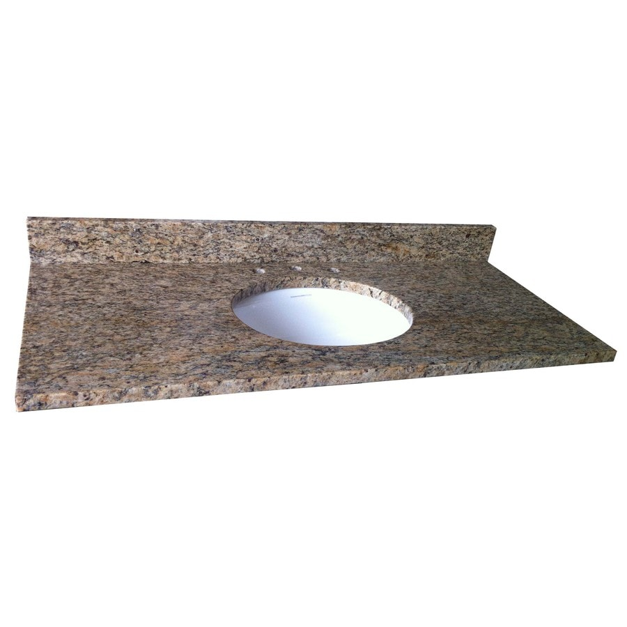 allen + roth Santa Cecilia Granite Undermount Single Sink Bathroom Vanity Top (Common: 37-in x 22-in; Actual: 37-in x 22-in)