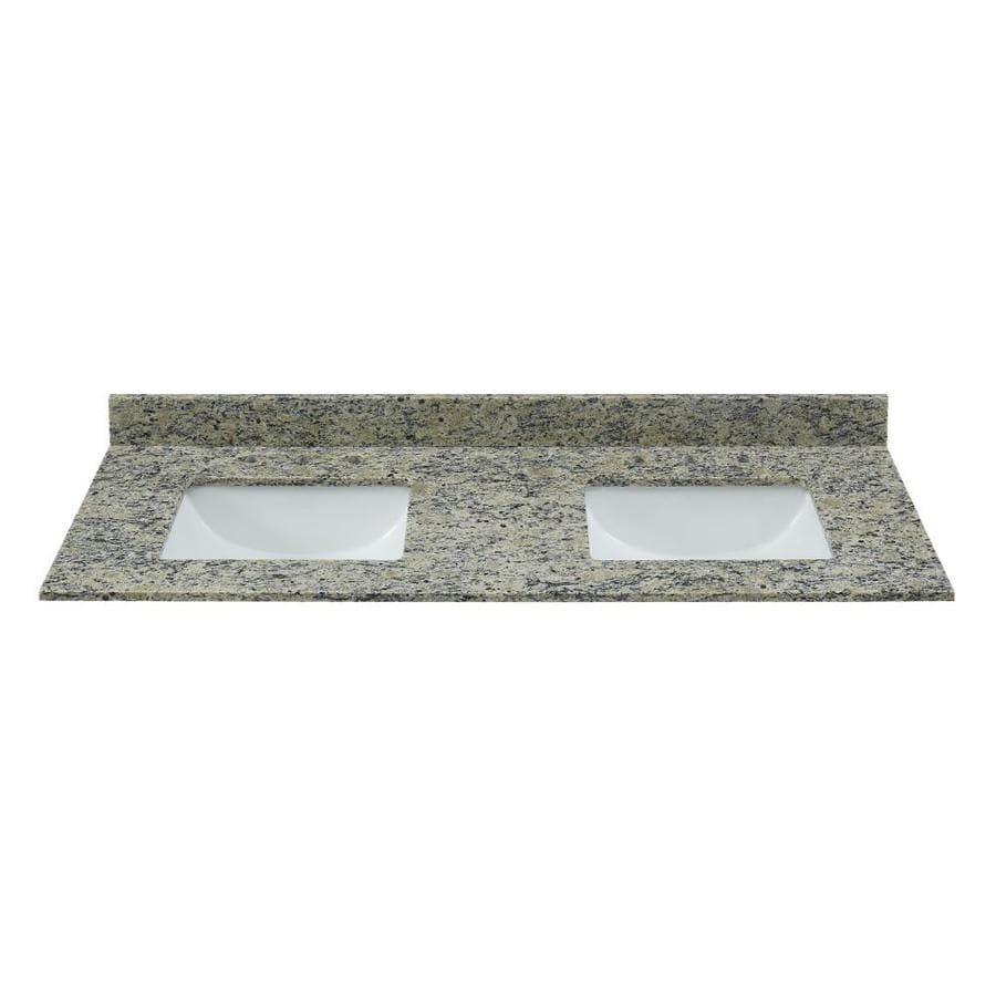 Light Colored Granite For Bathroom: Bestview Santa Cecilia Light 61-in Brown/Polished Granite