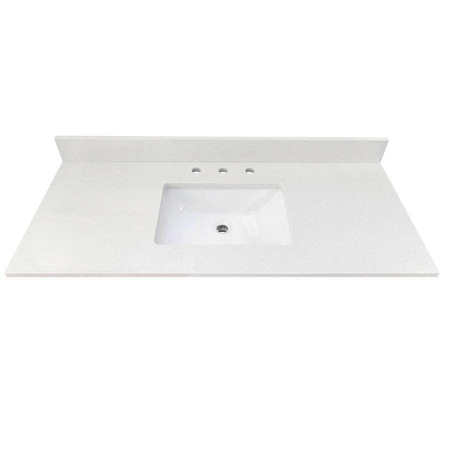 Bestview Meridian 49 In White Polished Engineered Marble Single Sink Bathroom Vanity Top In The Bathroom Vanity Tops Department At Lowes Com