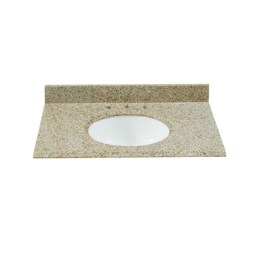 Bestview beige polished granite bathroom vanity top common 43 in x 22