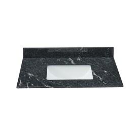 Bestview 31 In Thunder Black Granite Single Sink Bathroom Vanity Top In The Bathroom Vanity Tops Department At Lowes Com