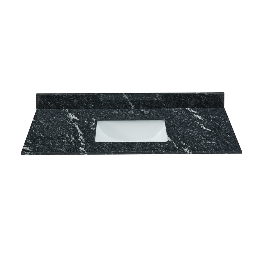 Bestview Thunder Black Granite Undermount Single Sink Bathroom Vanity Top (Common: 43-in x 22-in; Actual: 43-in x 22-in)