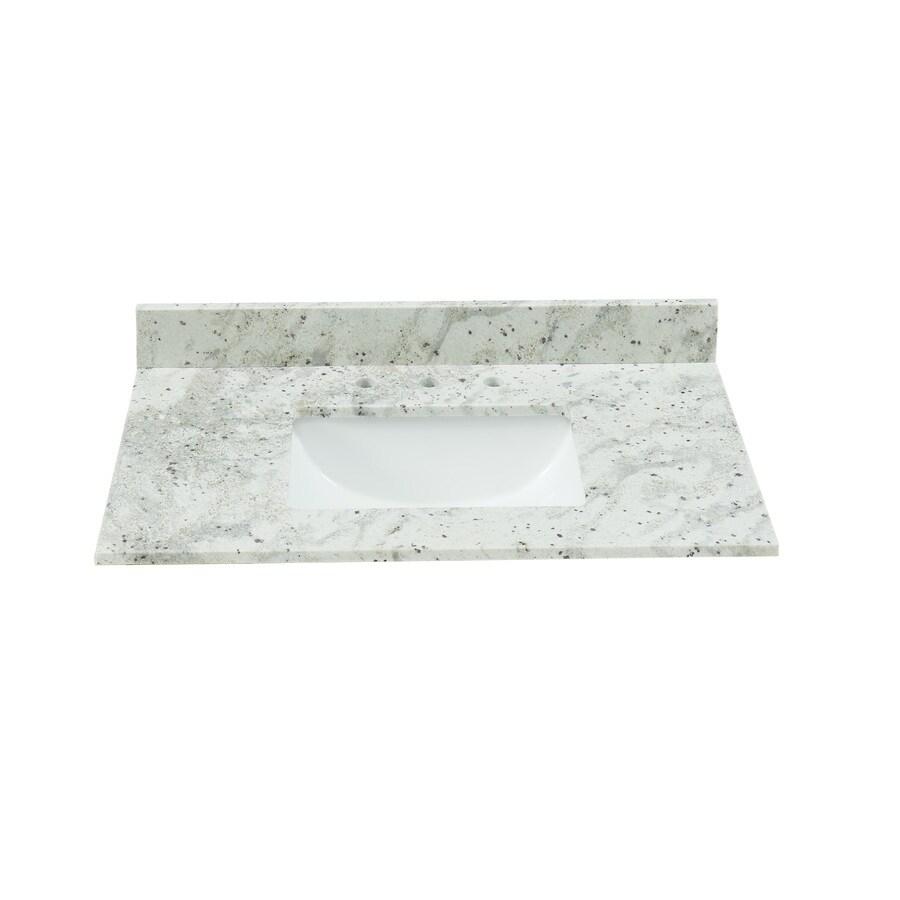 Bestview 31 In Glacier White Granite Bathroom Vanity Top