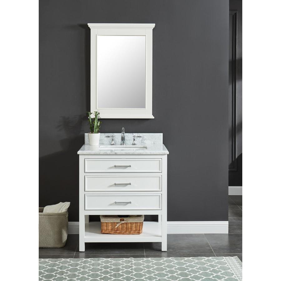 Allen Roth Presnell 31 In Dove White Single Sink Bathroom Vanity