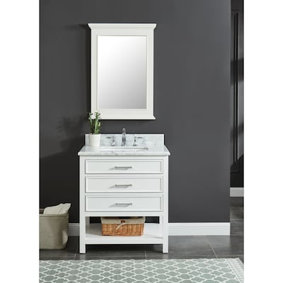 Amazing Allen Roth Presnell 31 In Dove White Single Sink Bathroom Download Free Architecture Designs Pushbritishbridgeorg