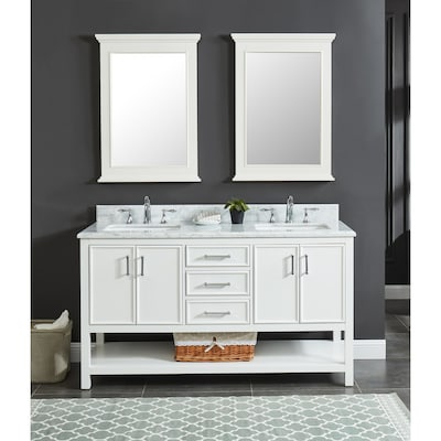 Solid Wood Frame Bathroom Vanities With Tops At Lowes Com