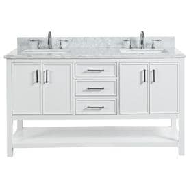 Wondrous Double Sink Bathroom Vanities With Tops At Lowes Com Interior Design Ideas Tzicisoteloinfo