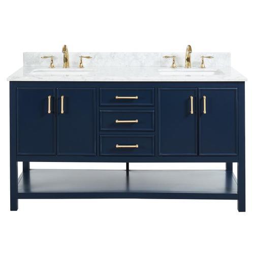 Navy Blue Double Sink Bathroom Vanity