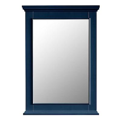 Mirror 25 In Navy Blue Rectangular Bathroom