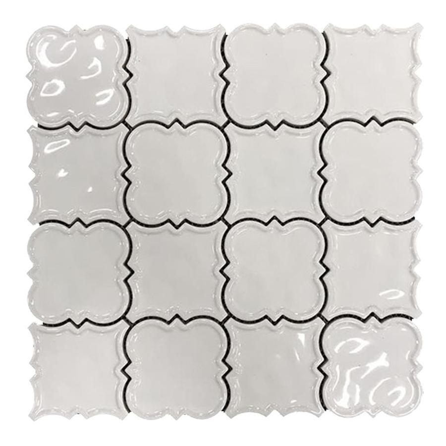 Magnolia Mosaics White 12 In X