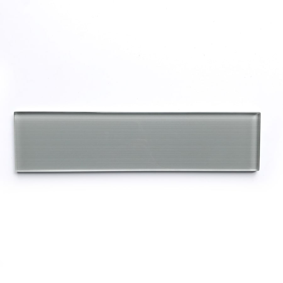 Bestview Grey Linen Polished Gl Subway Tile Common 3 In X 12