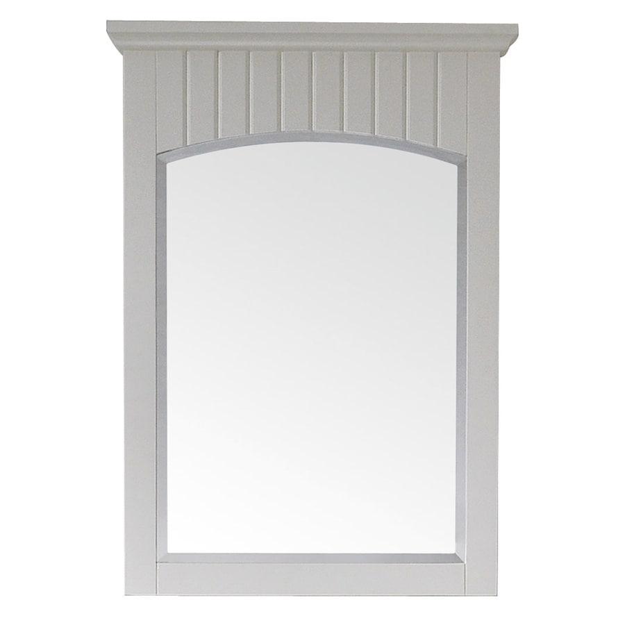 Avanity 33-in H x 24-in W Beverly Soft White Rectangular Bathroom Mirror