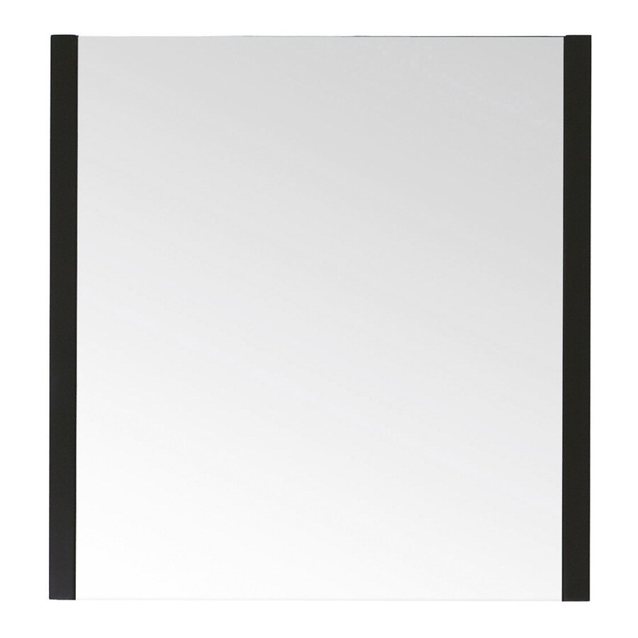 Avanity Loft 30-in W x 31.5-in H Dark Walnut Rectangular Bathroom Mirror