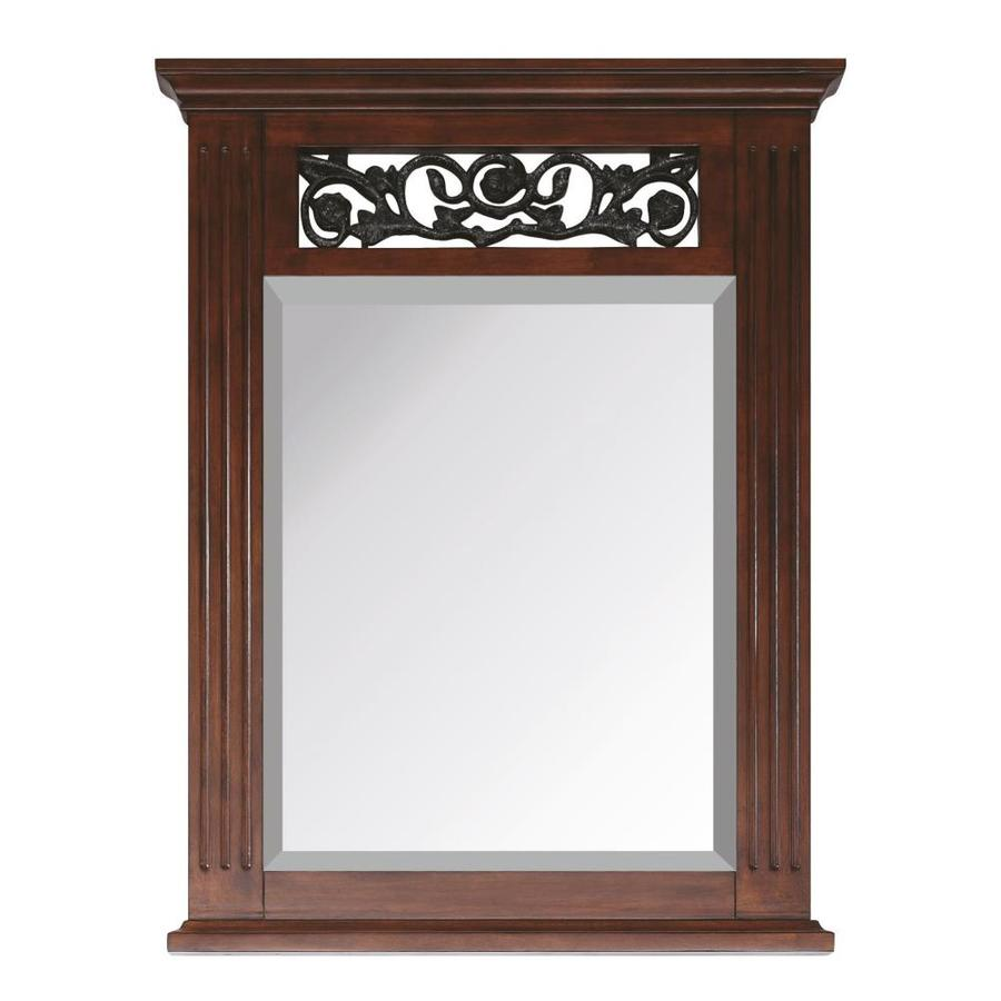 Avanity Napa 24-in x 31.5-in Dark Cherry Rectangular Framed Bathroom Mirror