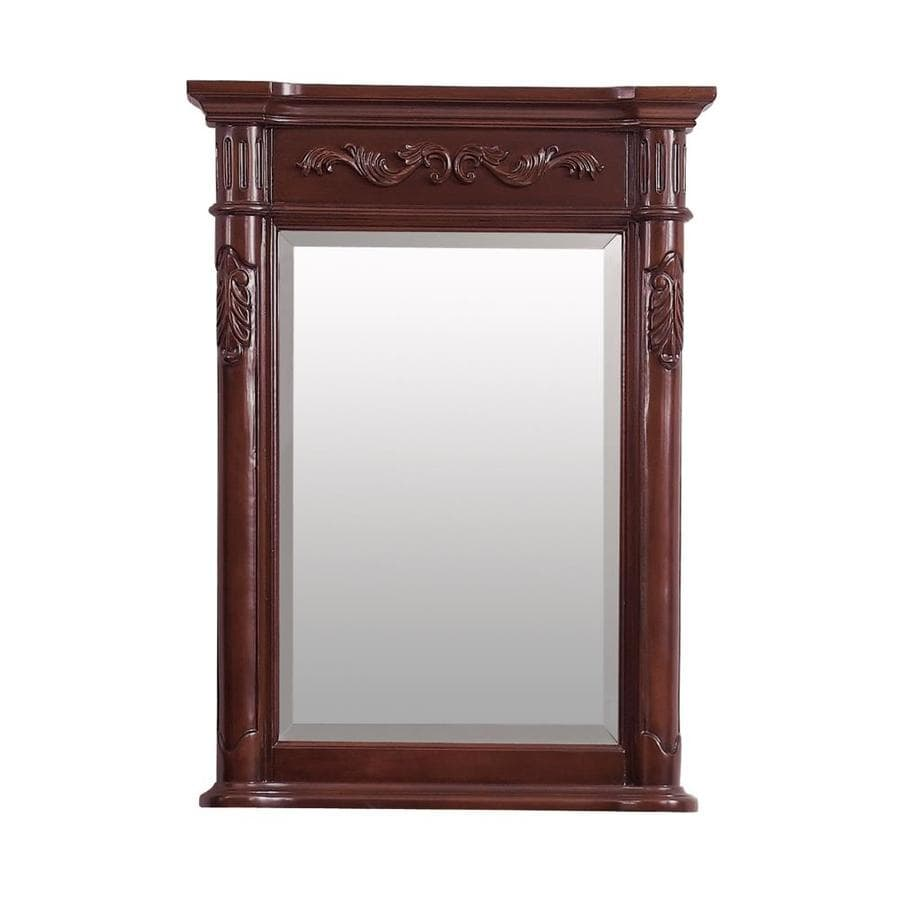 Shop Avanity Provence 24 In Antique Cherry Rectangular Bathroom Mirror At