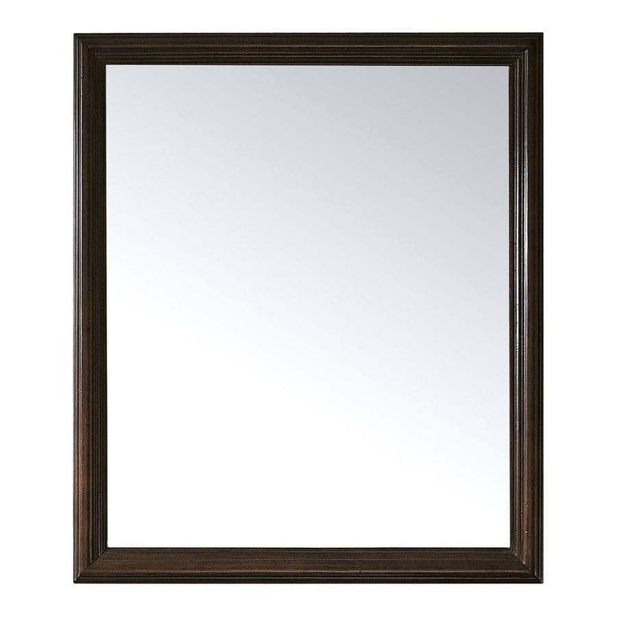 Avanity 32-in H x 28-in W Savana Antique Oak Rectangular Bathroom Mirror
