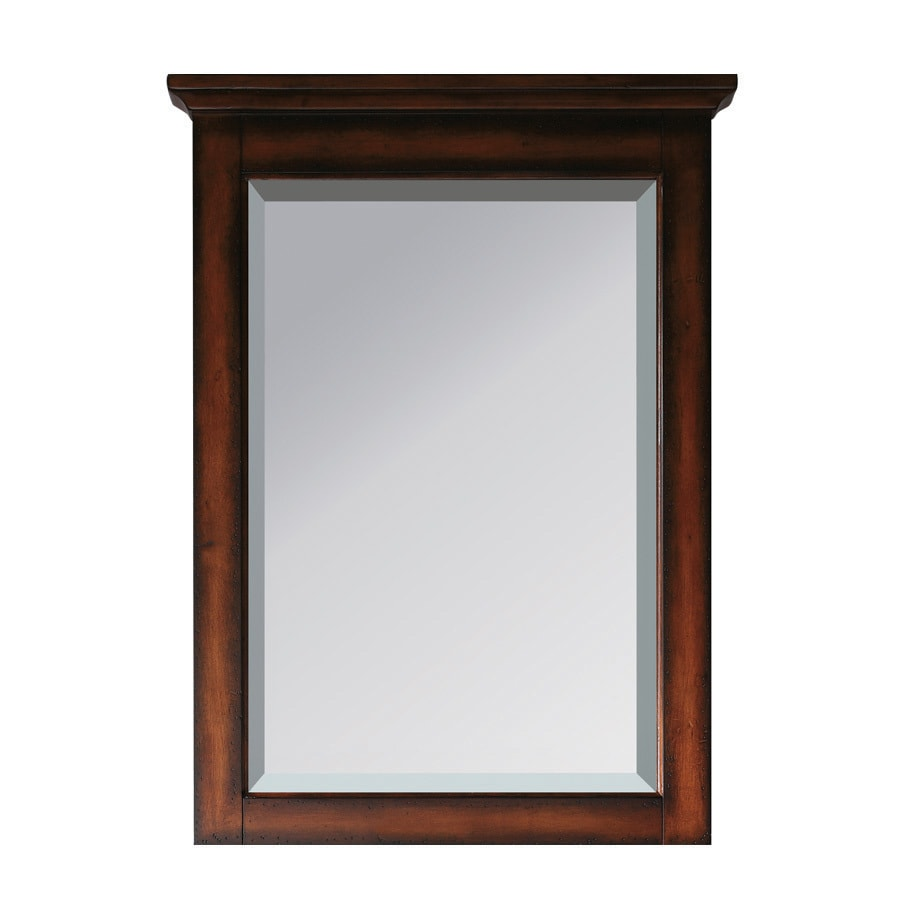 Avanity Tropica 24-in x 32-in Antique brown Rectangular Framed Bathroom Mirror