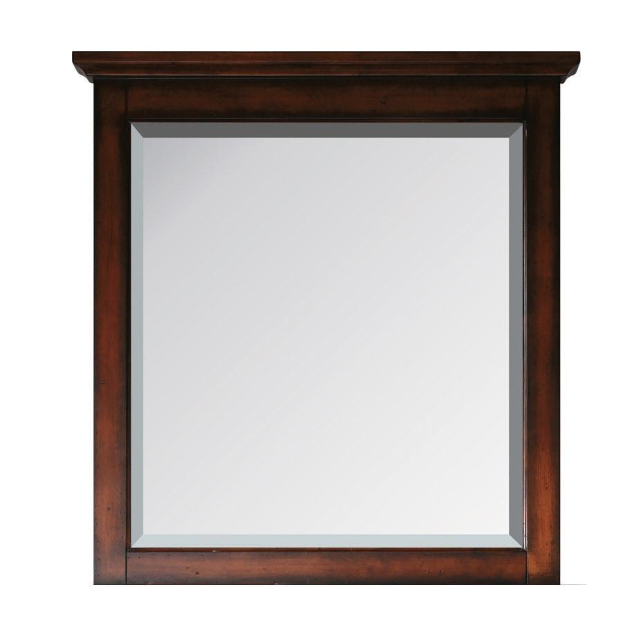 Avanity Tropica 31-in W x 32-in H Antique Brown Rectangular Bathroom Mirror