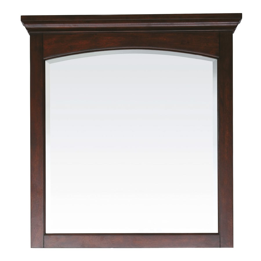 Avanity 38-in H x 36-in W Vermont Mahogany Rectangular Bathroom Mirror