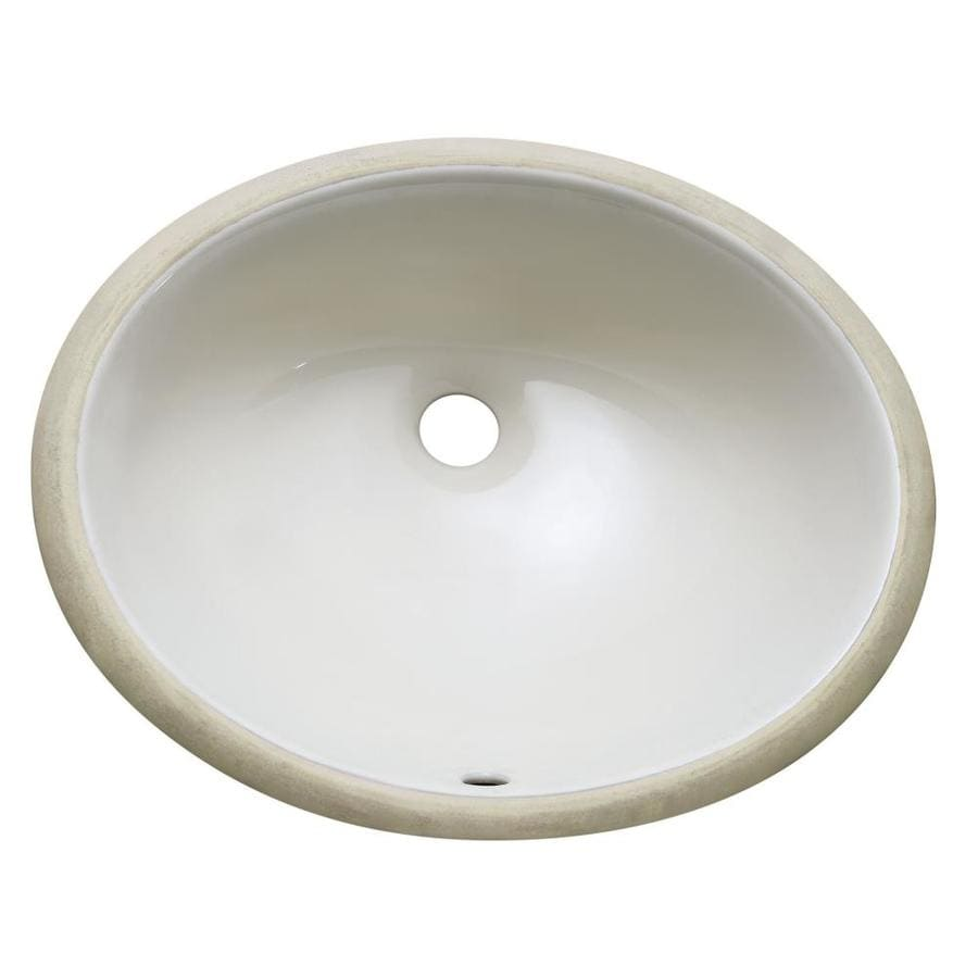 Avanity Linen Undermount Oval Bathroom Sink with Overflow
