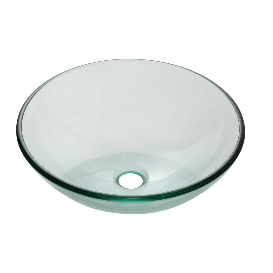 Bon Avanity Clear Tempered Glass Vessel Round Bathroom Sink