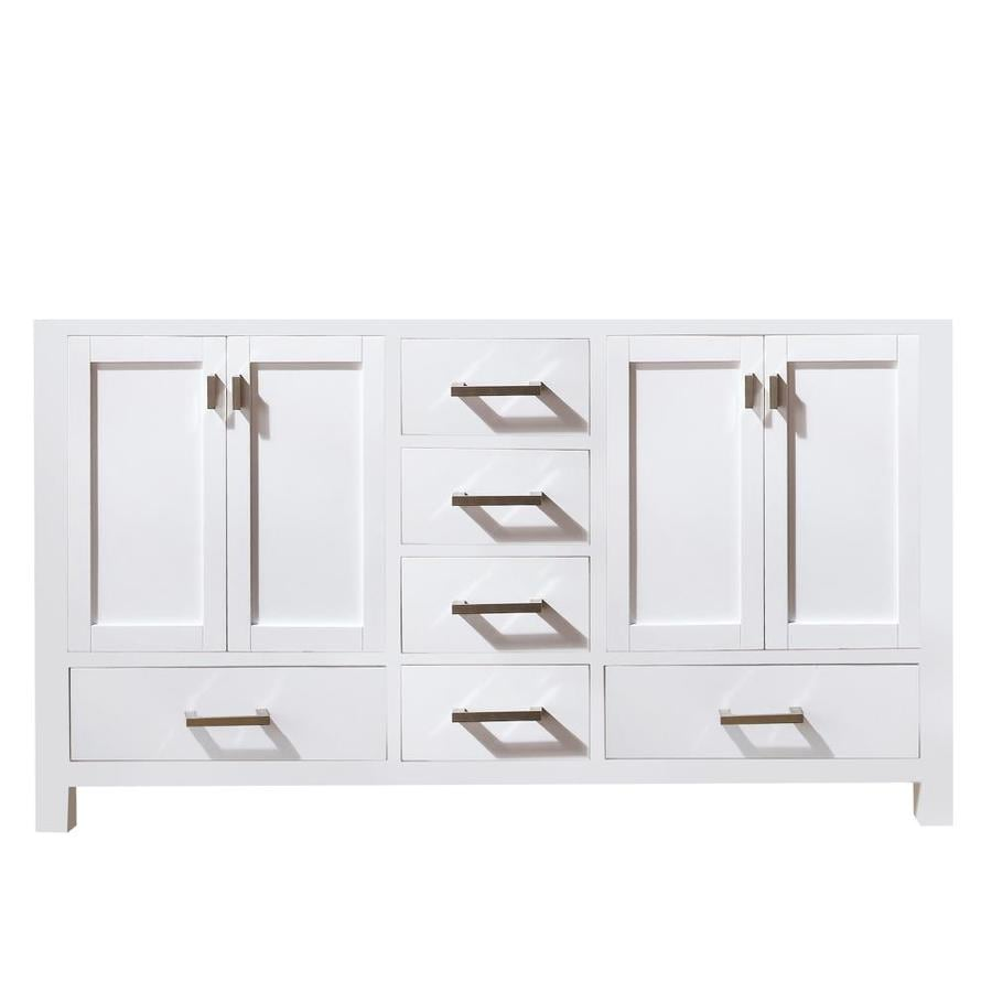 Avanity Modero White Transitional Bathroom Vanity (Common: 60-in x 21-in; Actual: 60-in x 21-in)