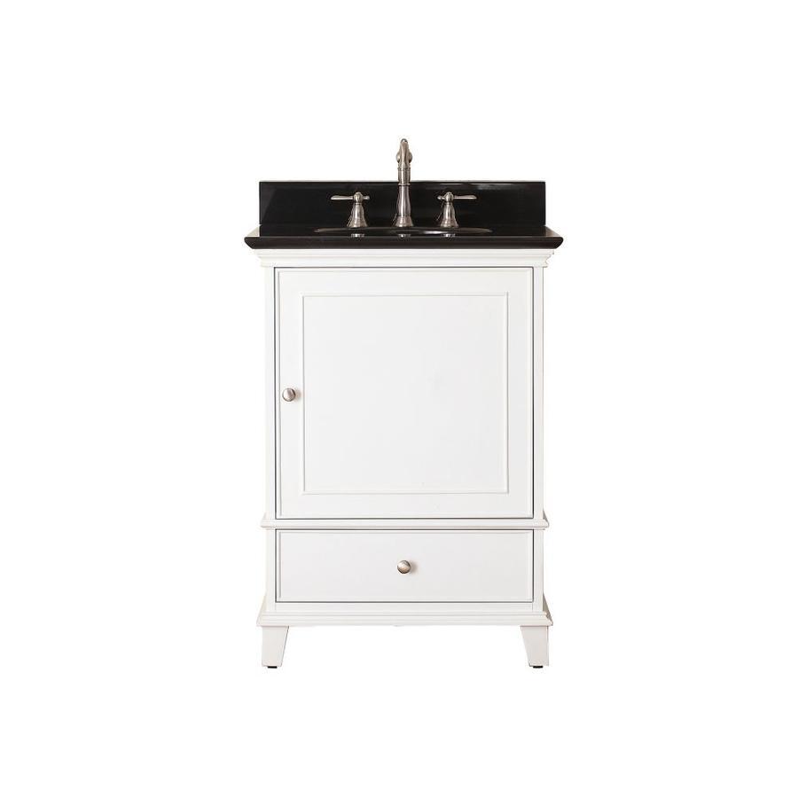 Avanity Windsor White Undermount Single Sink Bathroom Vanity with Granite Top (Common: 25-in x 22-in; Actual: 25-in x 22-in)