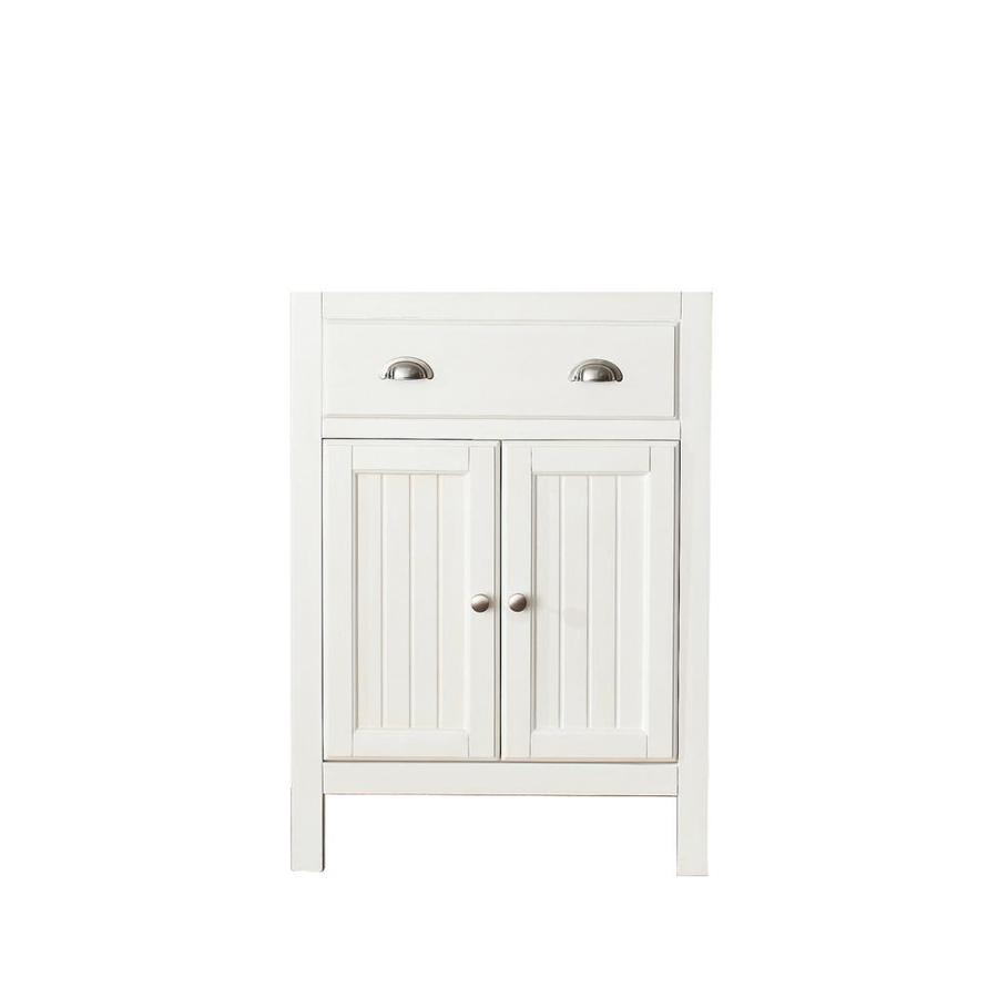 Avanity Hamilton French White (Common: 24-in x 22-in) Traditional Bathroom Vanity (Actual: 24-in x 21.5-in)